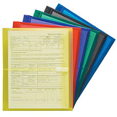 Smead Poly Envelopes Letter Size Side
