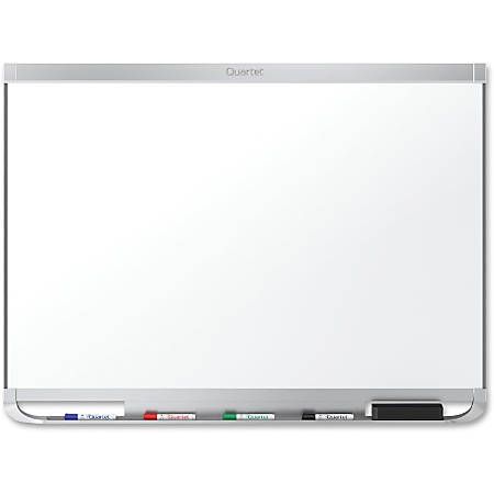 "Quartet® Prestige® 2 DuraMax® Porcelain Magnetic Whiteboard, Aluminum Frame, 72"" x 48"""