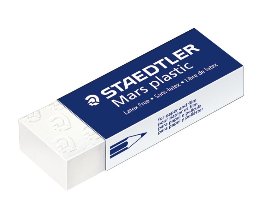 Just Stationery Eraser White Pack of 6