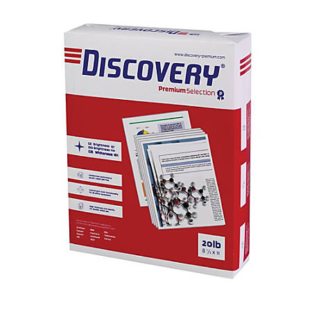 Soporcel Discovery Multipurpose Paper, Letter Size Paper, 20 Lb, White, 500 Sheets Per Ream, Case Of 10 Reams