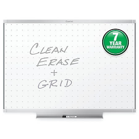 "Quartet® Prestige® 2 Total Erase® Whiteboard, Aluminum Frame, 48"" x 36"""