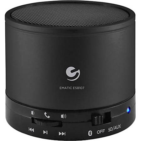 Ematic Portable Bluetooth® Speaker System, Black, ESB107
