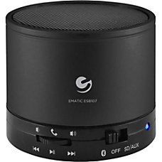 Ematic Portable Bluetooth Speaker System Black