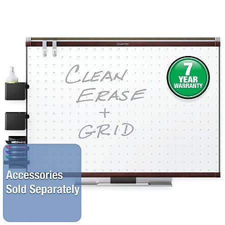 Quartet Prestige 2 Total Erase Whiteboard Mahogany Frame 48 x 36 by ...