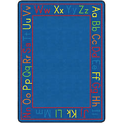 Flagship Carpets Cushy Alphabet Carpet Rectangle