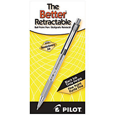 Pilot Better Retractable Ballpoint Pens Fine