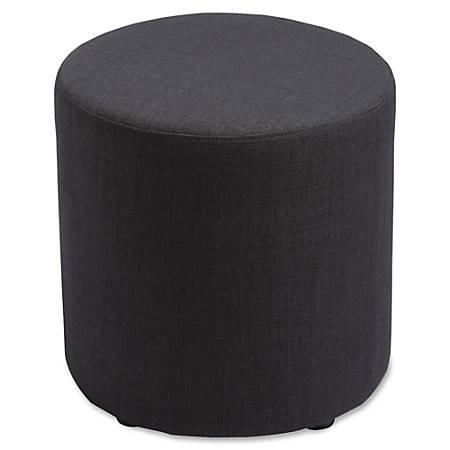 Lorell® Collaborative Seating Cylinder Ottoman, Fabric, Black