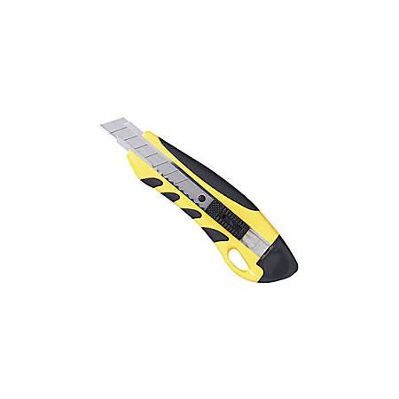 Sparco Anti-Slip Utility Knife, Yellow/Black