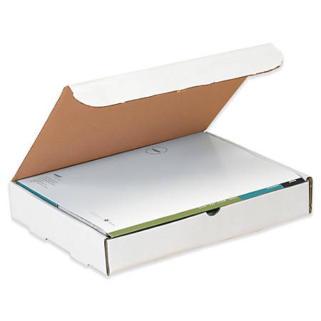 """Office Depot® Brand White Corrugated Mailers, 11 1/8"""" x 8 3/4"""" x 3"""", Pack Of 50"""