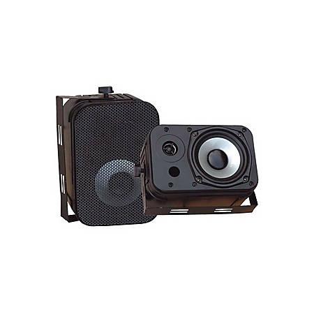 Pyle PylePro PDWR40B Indoor/Outdoor Speaker - 2-way - 2 Pack