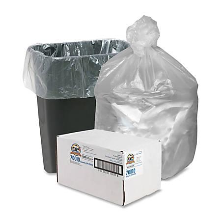Genuine Joe Economy High-Density Can Liners, 7-10 Gallon, Translucent, Carton Of 1,000