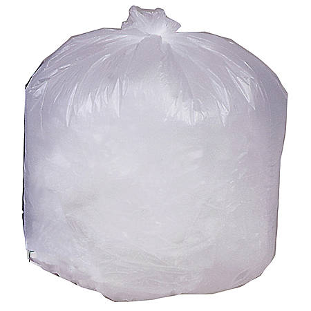 Genuine Joe Economy High-Density Can Liners, 16 Gallons, Translucent, Box Of 1,000