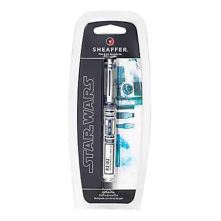Sheaffer® Star Wars Gel Rollerball Pen, Medium Point, 0.7 mm, R2-D2 Design Barrel, Black Ink