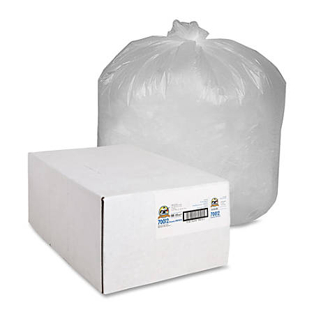 Genuine Joe Economy High Density Can Liners, 31-33 Gallon, Translucent, Carton Of 500