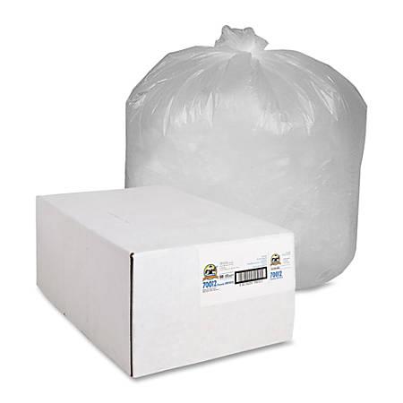 Genuine Joe Economy High Density Can Liners, 31-33 Gallon, Translucent, Carton Of 500