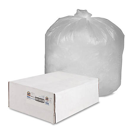 Genuine Joe Economy High-Density Can Liners, 55-60 Gallon, Translucent, Carton Of 200