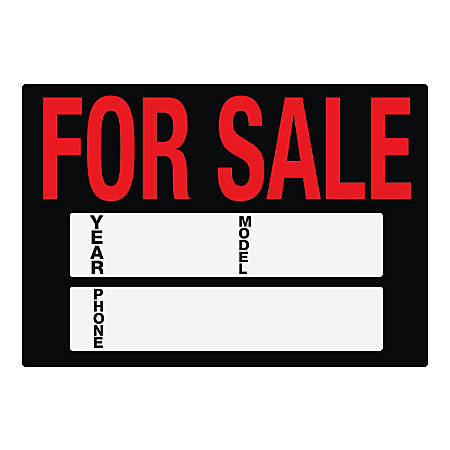 Cosco Static Cling Car Sale Sign Kit Office Depot