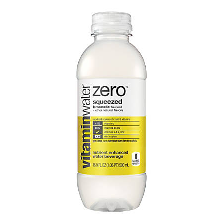 Glacéau vitaminwaterzero™ Squeezed, 16.9 Oz, Pack Of 24