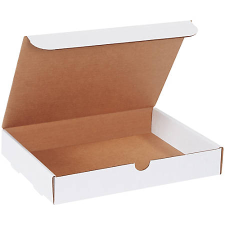 """Office Depot® Brand White Corrugated Mailers, 12 1/8"""" x 9 1/4"""" x 2"""", Pack Of 50"""