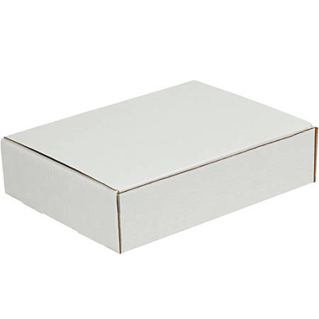 """Office Depot® Brand White Corrugated Mailers, 12 1/8"""" x 9 1/4"""" x 3"""", Pack Of 50"""