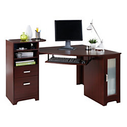 Bradford corner desk cherry by office depot officemax bradford corner desk cherry watchthetrailerfo
