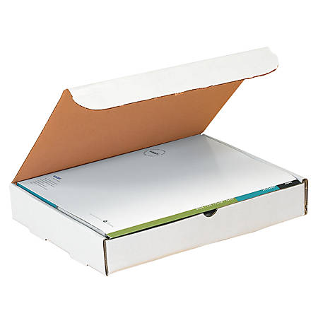 """Office Depot® Brand White Corrugated Mailers, 9"""" x 6 1/2"""" x 2 3/4"""", Pack Of 50"""