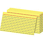 """OfficeMax Ruled Index Cards, 3"""" x 5"""", Pack Of 100"""