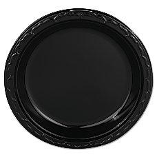 Genpak Silhouette Plastic Plates 9 Black