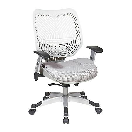 Office Star™ Space® Revv Mesh Mid-Back Chair, Ice White/Shadow