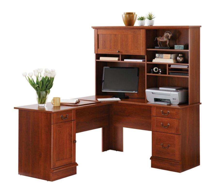 Sauder Traditional L Shaped Desk 29 14 H x 62 12 W x 58 D Shaker