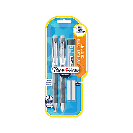 Paper Mate® Clearpoint® Elite Mechanical Pencil Starter Set, 0.5 mm, #2 Lead