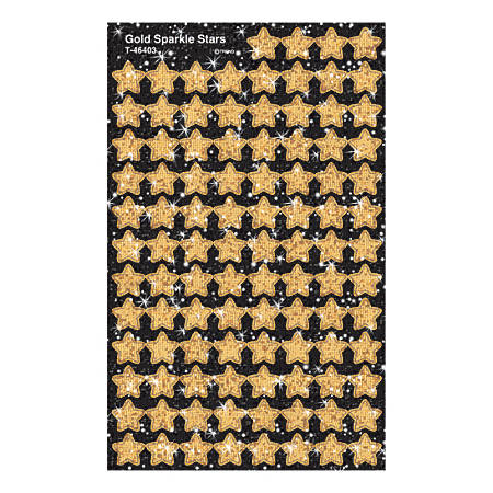 TREND superShapes Sticker Pack, Gold Sparkle Stars, Pack Of 400