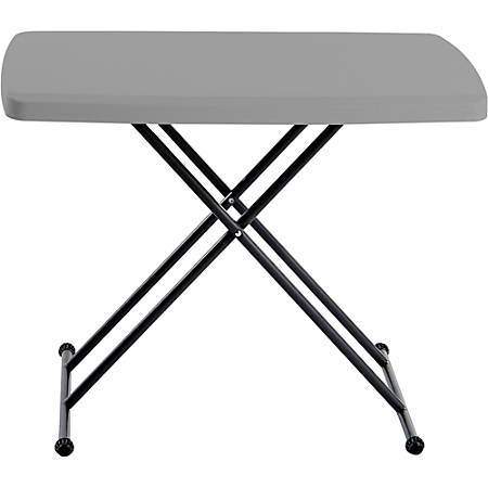 """Iceberg IndestrucTable TOO Personal Folding Table - Rectangle Top - X-shaped Base - 30"""" Table Top Length x 20"""" Table Top Width - 28"""" Height - Charcoal"""