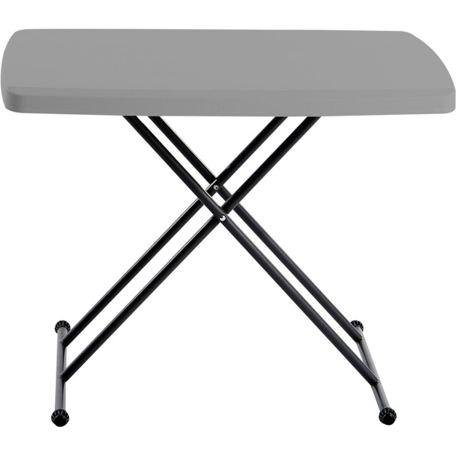 Iceberg IndestrucTable TOO Personal Folding Table Rectangle Top X Shaped  Base 30 Table Top Length X 20 Table Top Width 28 Height Assembly Required  Charcoal ...