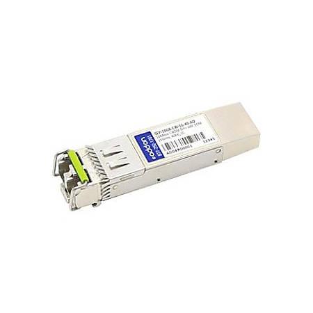 AddOn MSA and TAA Compliant 10GBase-CWDM SFP+ Transceiver (SMF, 1550nm, 40km, LC, DOM)