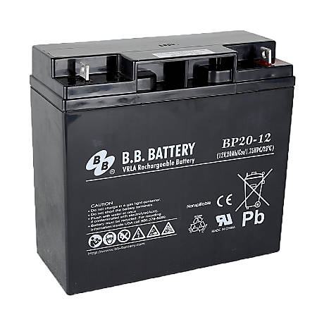 B & B BP Series Battery, BP20-12, B-SLA1220