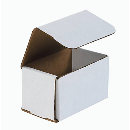 """Office Depot® Brand White Corrugated Mailers, 5"""" x 3"""" x 3"""", Pack Of 50"""