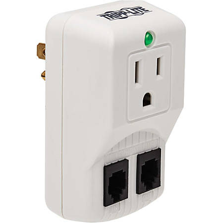 Tripp Lite Notebook Surge Protector Wallmount Direct Plug In 1 Outlet RJ11