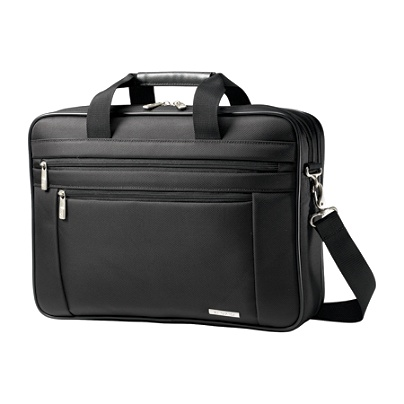 Samsonite Clic Carrying Case Briefcase For 17 Notebook Black By Office Depot Officemax