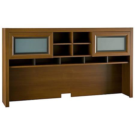 Bush Furniture Achieve Hutch, Warm Oak, Standard Delivery