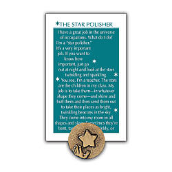 Star Polisher Lapel Pin 58 Gold
