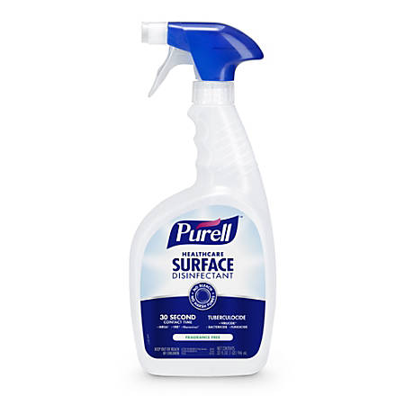 PURELL® Healthcare Surface Disinfectant, 32 fl oz Capped Bottle with Spray Trigger, Each