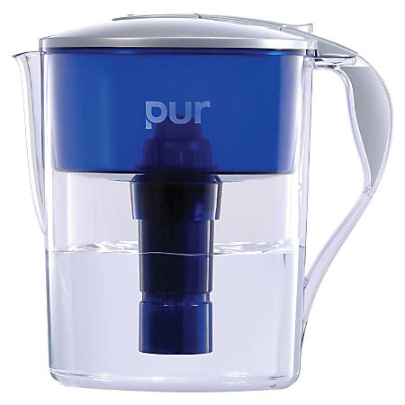 Honeywell Pur Water Filter Pitcher, 40 Gallon Capacity, Blue/Clear