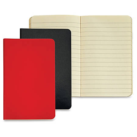"TOPS Idea Collective Mini Softcover Journals - 40 Sheets - Case Bound - 3 1/2"" x 5 1/2"" - Assorted Paper - Red, Black Cover - Paperboard Cover - Durable Cover, Acid-free, Flexible Cover, Unpunched - 2 / Pack"
