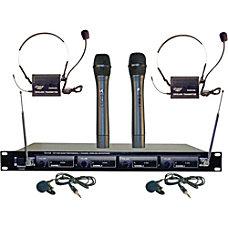 Pyle PDWM4300 Wireless Microphone System 169MHz