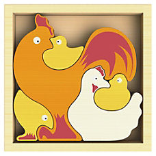 BeginAgain Toys Chicken Family Puzzle ThemeSubject