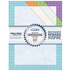 Geographics Certificates 8 12 x 11
