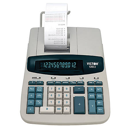 Victor® 1260-3 Heavy-Duty Commercial Printing Calculator