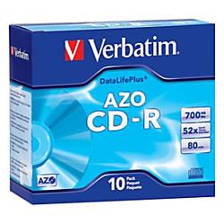 Verbatim AZO CD R 700MB 52X