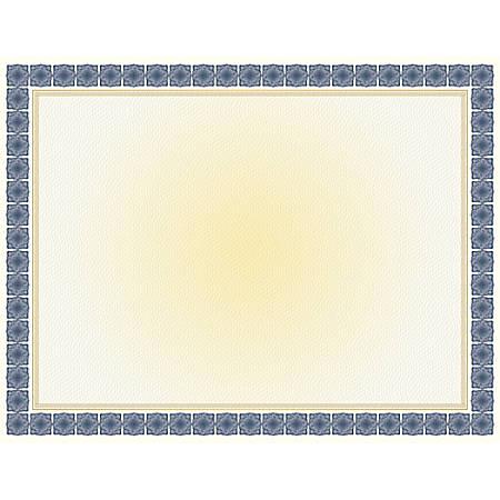 "Geographics® Certificates, 8 1/2"" x 11"", Kensington Blue Gold Foil, Pack Of 15"